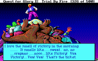 Quest for Glory (not the first game, but the hero looks badass)
