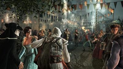 Image result for ezio hiding in a crowd