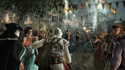 Image result for ezio hiding in a crowd